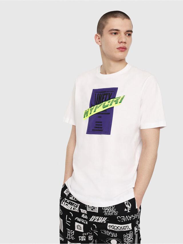 Diesel - T-JUST-Y7, Bianco - T-Shirts - Image 1