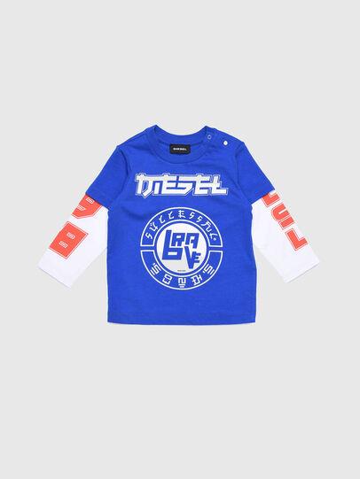 Diesel - TUCOB, Blu/Bianco - T-shirts e Tops - Image 1