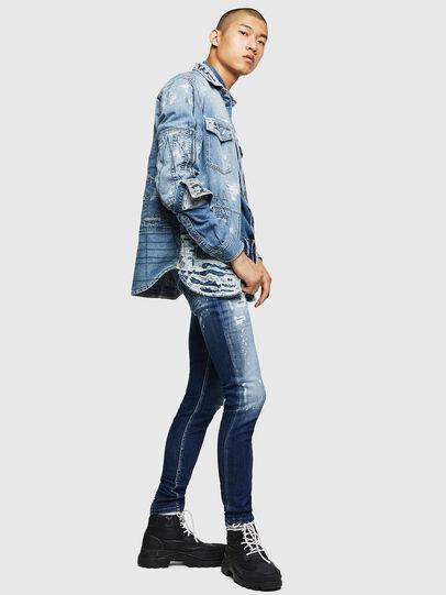 Diesel - Sleenker 0091Y, Blu medio - Jeans - Image 6