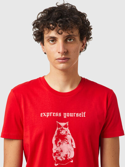 Diesel - T-INY-B2, Rosso - T-Shirts - Image 3