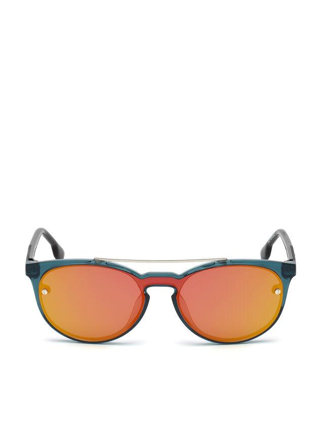 Diesel - DL0216, Blu/Arancio - Occhiali da sole - Image 1