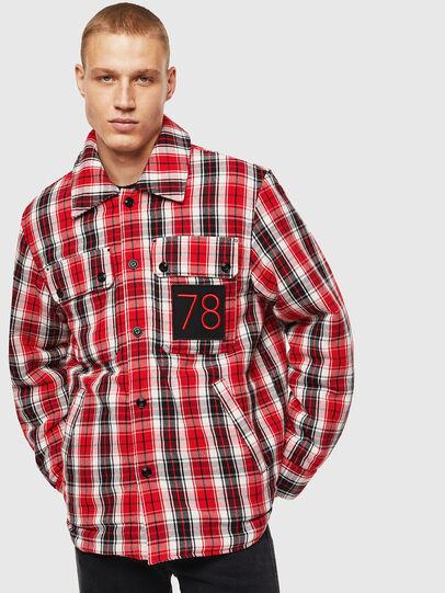 Diesel - S-JOHNS, Rosso/Nero - Camicie - Image 1