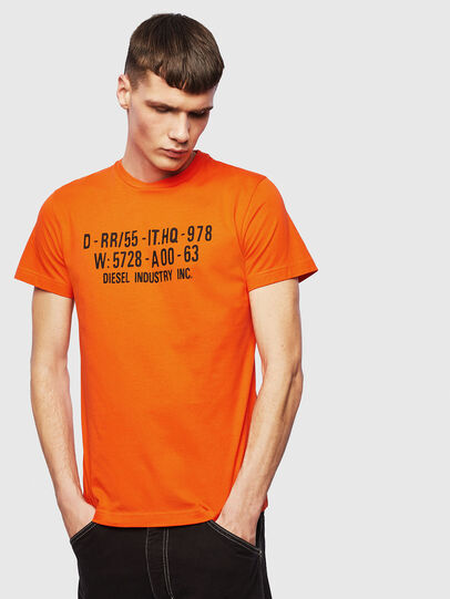 Diesel - T-DIEGO-S2, Arancione - T-Shirts - Image 1
