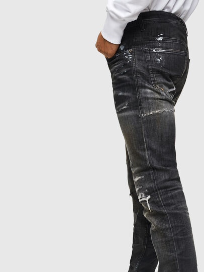 Diesel - Thommer JoggJeans 0098E, Nero/Grigio scuro - Jeans - Image 4