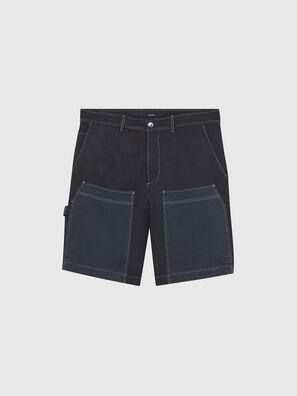 P-TRENT-SHORT, Nero/Blu - Shorts