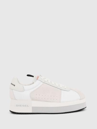 Diesel - S-PYAVE WEDGE, Bianco/Rosa - Sneakers - Image 1
