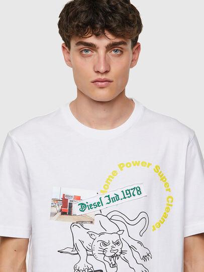 Diesel - T-JUST-B60, Bianco - T-Shirts - Image 3