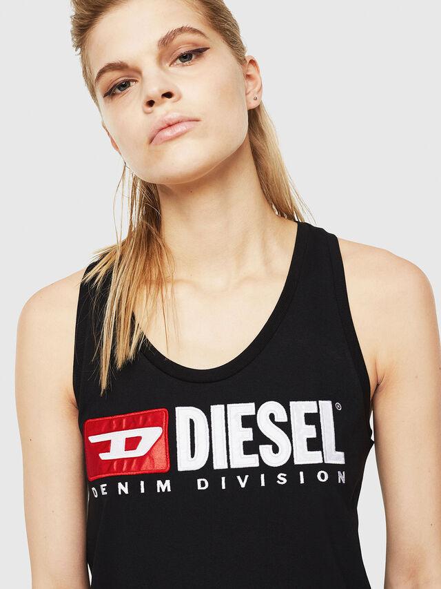 Diesel - T-SILK, Nero - Tops - Image 3