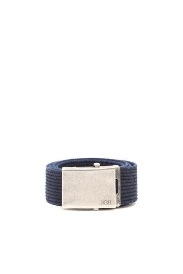 Cintura in tela con elementi in metallo invecchiato