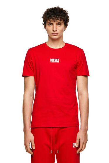 T-shirt Green Label con piccolo logo stampato