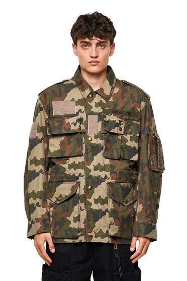 Giacca in twill di cotone camouflage