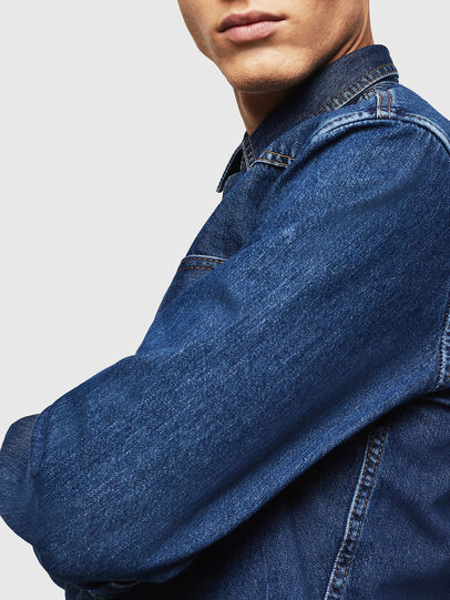 Diesel - D-EAST-P, Blu medio - Camicie in Denim - Image 5