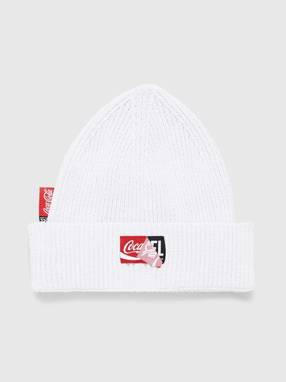 Diesel - CC-BEANY-COLA, Bianco - Cappelli invernali - Image 1