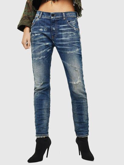 Diesel - Krailey JoggJeans 0870Q, Blu medio - Jeans - Image 1