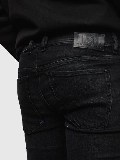 Diesel - Sleenker Zip 0093X, Nero/Grigio scuro - Jeans - Image 6