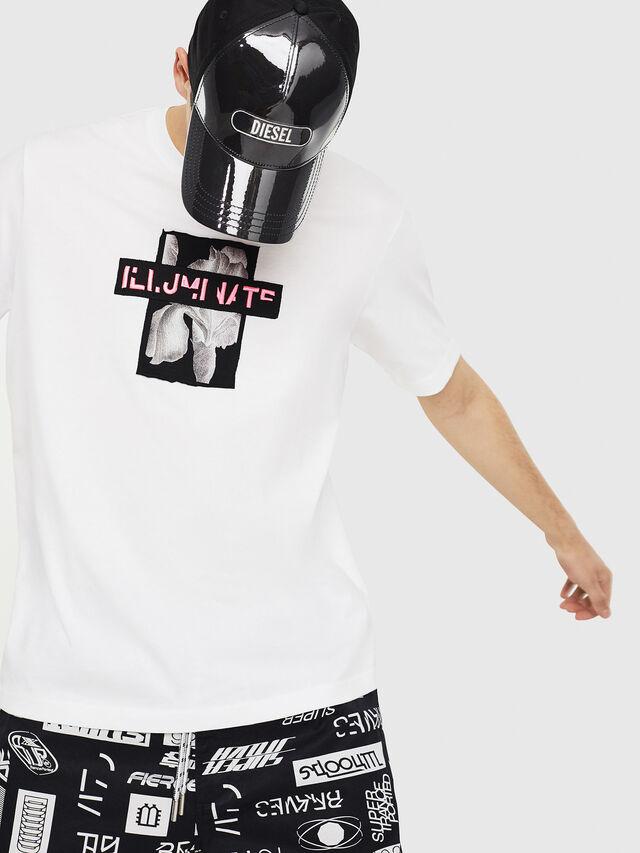 Diesel - T-JUST-Y23, Bianco - T-Shirts - Image 4