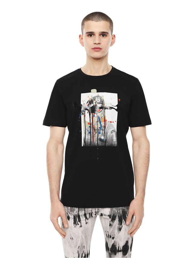 Diesel - TY-DRIPPINGSOLDIER, Nero - T-Shirts - Image 1