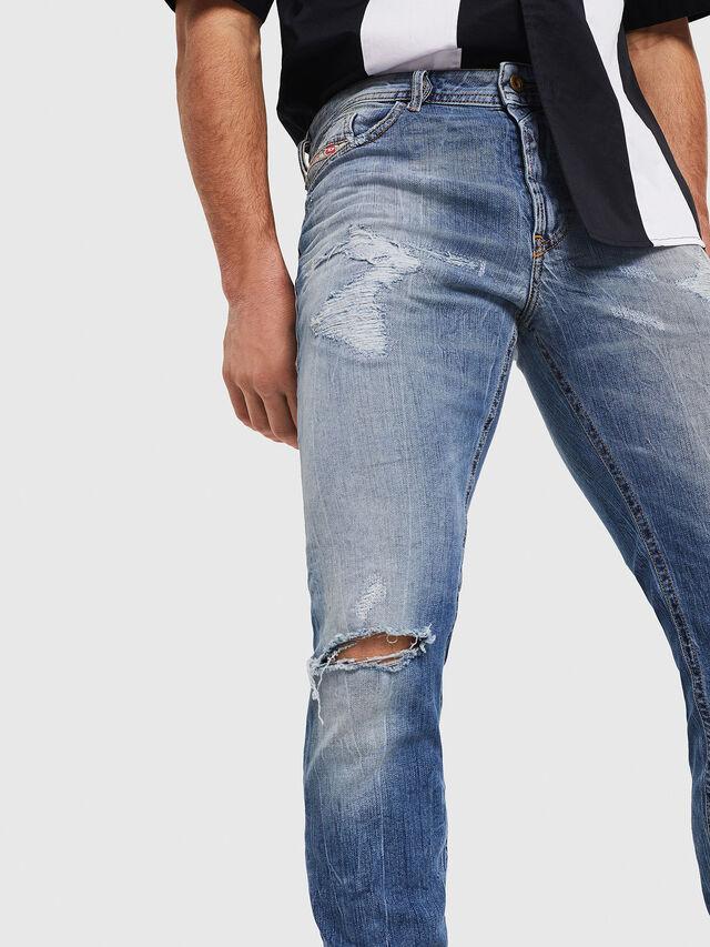 Diesel - Thommer 0090M, Blu Chiaro - Jeans - Image 4