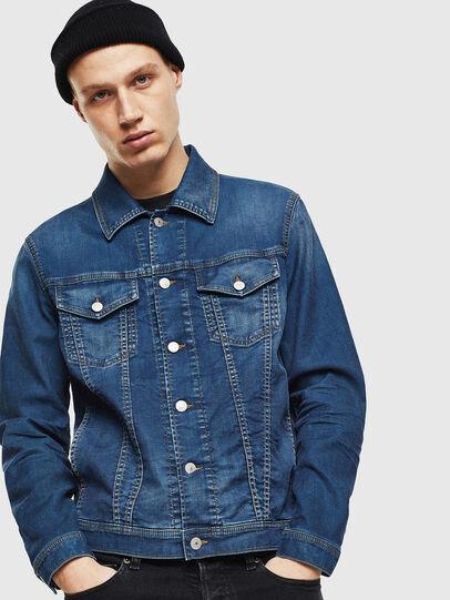 Diesel - NHILL JOGGJEANS, Blu Jeans - Giacche in denim - Image 1
