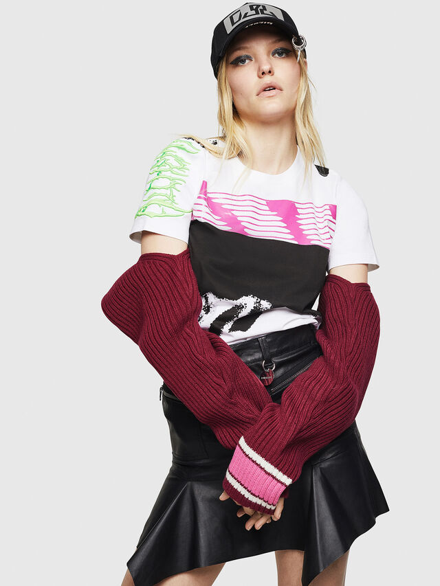 Diesel - T-SILY-WU, Bianco - T-Shirts - Image 4