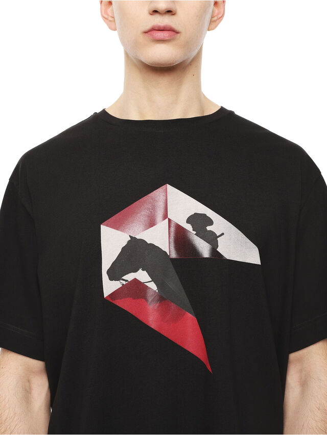 Diesel - TEORIAL-HUNTING, Nero - T-Shirts - Image 3