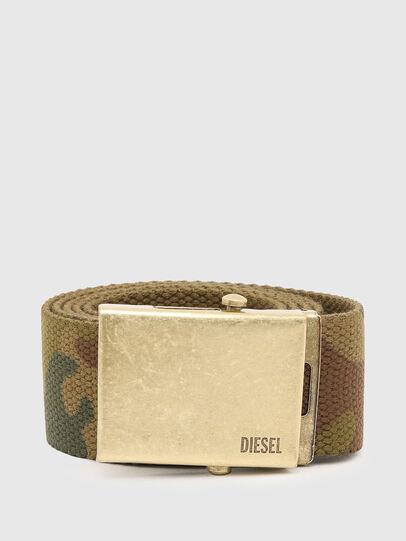 Diesel - B-COMBA, Verde Camo - Cinture - Image 1