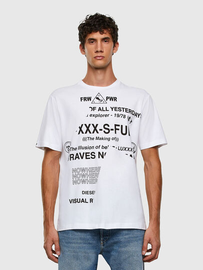 Diesel - T-JUST-FOLDED, Bianco - T-Shirts - Image 6