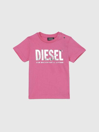 Diesel - TJUSTLOGOB-FL MC, Rosa - T-shirts e Tops - Image 1