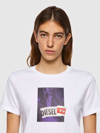 Diesel - T-SILY-B3, Bianco - T-Shirts - Image 3