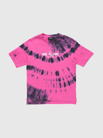 Diesel - TJUSTSLITSX86 OVER, Rosa - T-shirts e Tops - Image 1