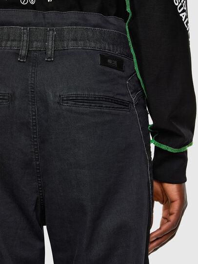 Diesel - D-Skint JoggJeans 069PC, Nero/Grigio scuro - Jeans - Image 4
