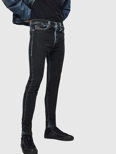 Diesel - D-Istort 0094B, Blu Scuro - Jeans - Image 5
