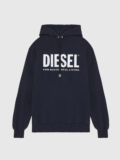 Diesel - S-GIR-HOOD-DIVISION-, Blu Scuro - Felpe - Image 1