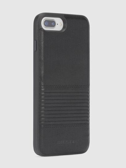 Diesel - BLACK LINED LEATHER IPHONE 8 PLUS/7 PLUS/6s PLUS/6 PLUS CASE, Nero - Cover - Image 5
