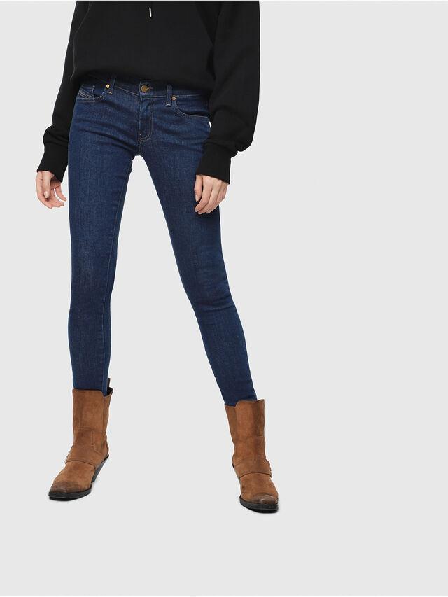 Diesel - Slandy Low 082AA, Blu Scuro - Jeans - Image 1