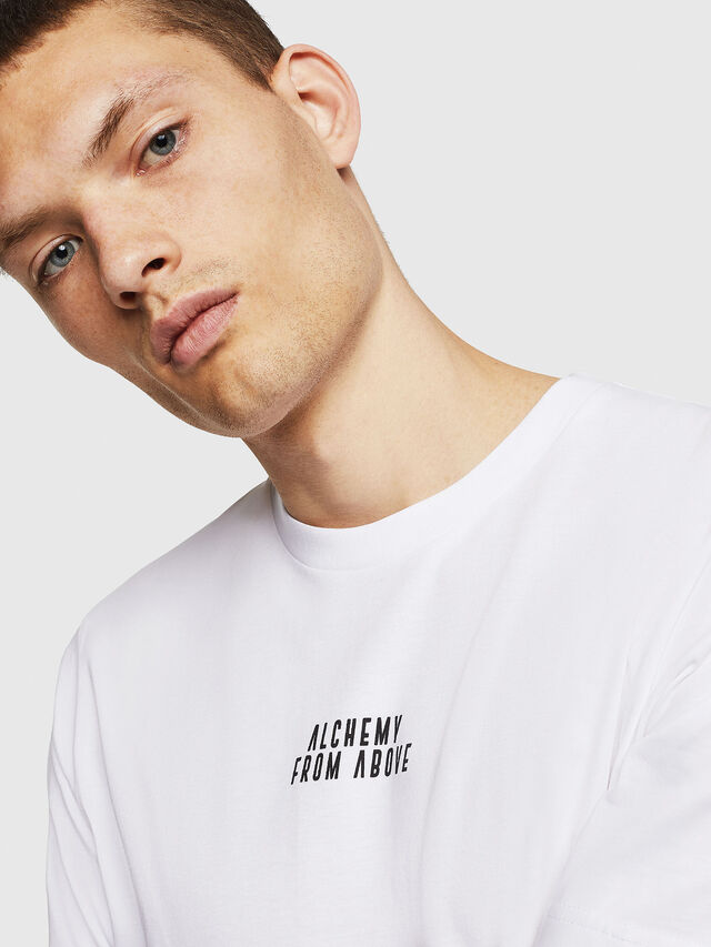 Diesel - T-JUST-A8, Bianco - T-Shirts - Image 3