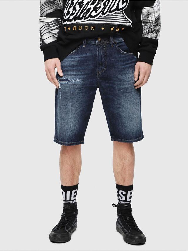 Diesel - THOSHORT, Blu Scuro - Shorts - Image 1