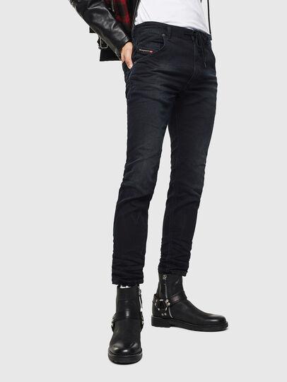 Diesel - Krooley JoggJeans 069KJ, Nero/Grigio scuro - Jeans - Image 1