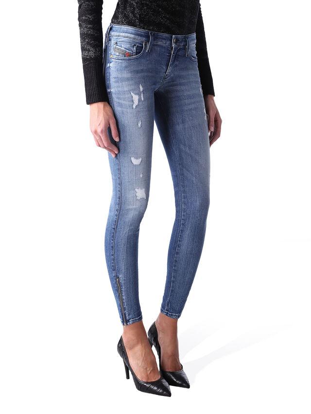 Diesel - Skinzee Low Zip 0847U, Blu medio - Jeans - Image 2