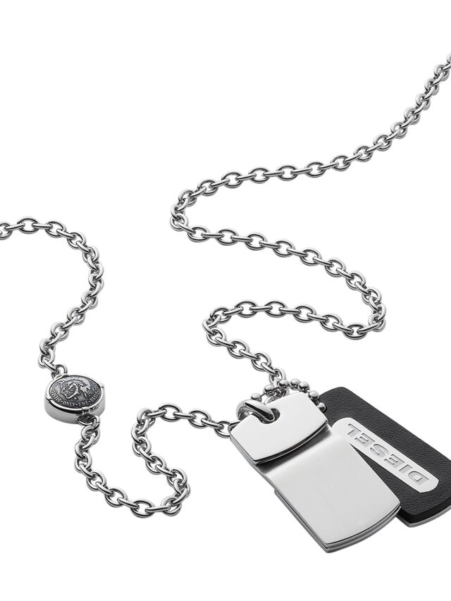 Diesel - NECKLACE DX0973, Argento - Collane - Image 2