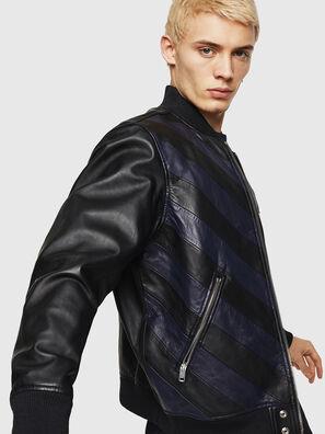 L-OLEG, Nero/Blu - Giacche di pelle