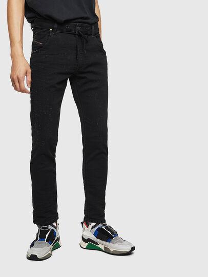 Diesel - Krooley JoggJeans 0092N, Nero/Grigio scuro - Jeans - Image 1