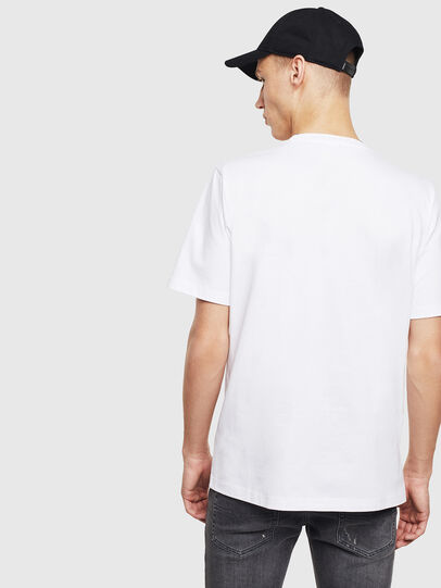 Diesel - T-JUST-T23, Bianco - T-Shirts - Image 4