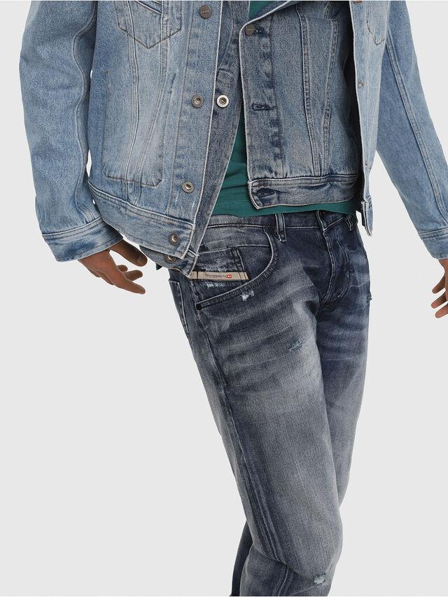 Diesel - D-Bazer 084DD, Blu Scuro - Jeans - Image 5