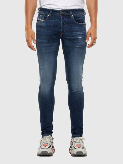 Diesel - Sleenker 009DK, Blu Scuro - Jeans - Image 1