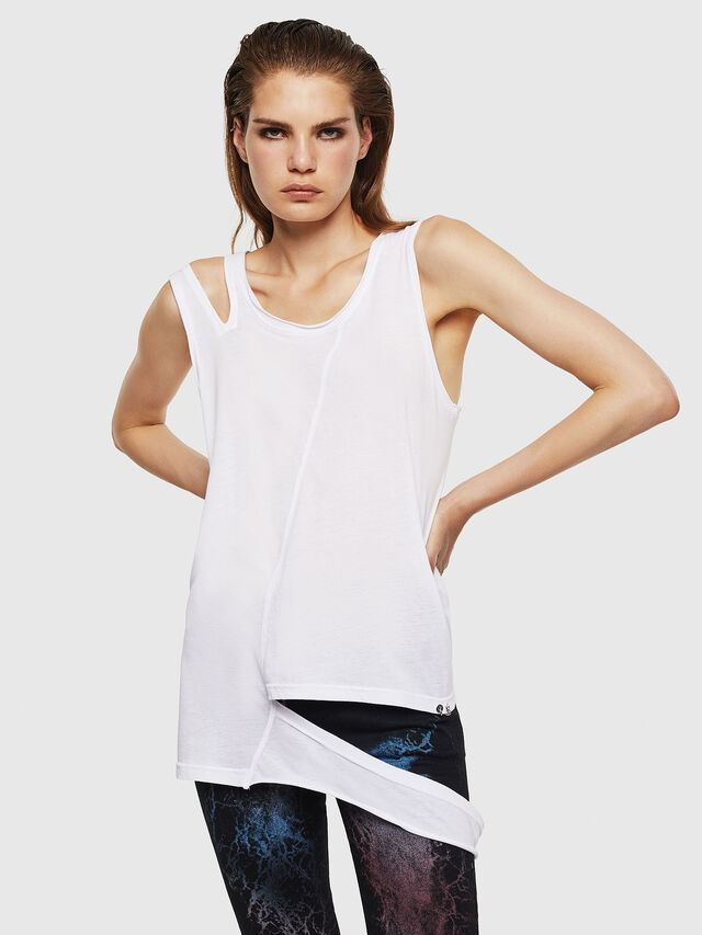 Diesel - T-TABBY-A, Bianco - Tops - Image 1