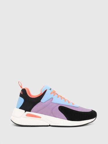 Sneaker in nylon ripstop e pelle scamosciata