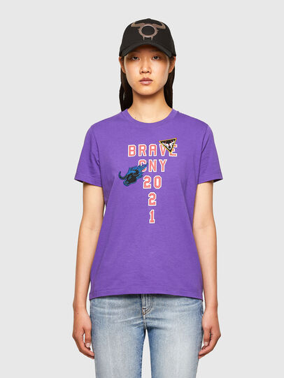 Diesel - CL-T-SILY-O, Viola - T-Shirts - Image 1