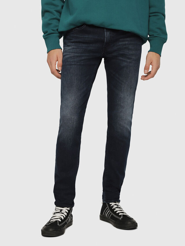 Diesel - Thommer 087AS, Blu Scuro - Jeans - Image 1