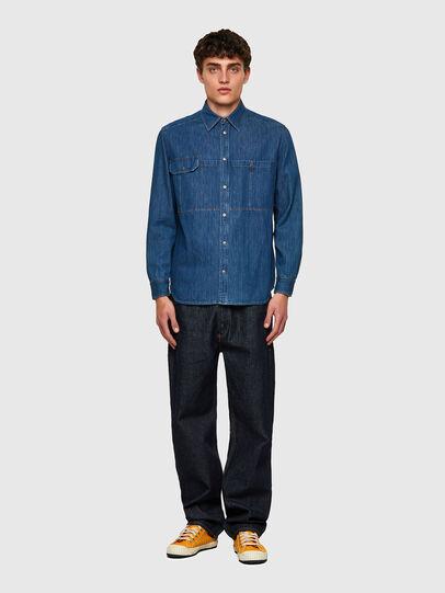 Diesel - D-MILLY-SP, Blu medio - Camicie in Denim - Image 4